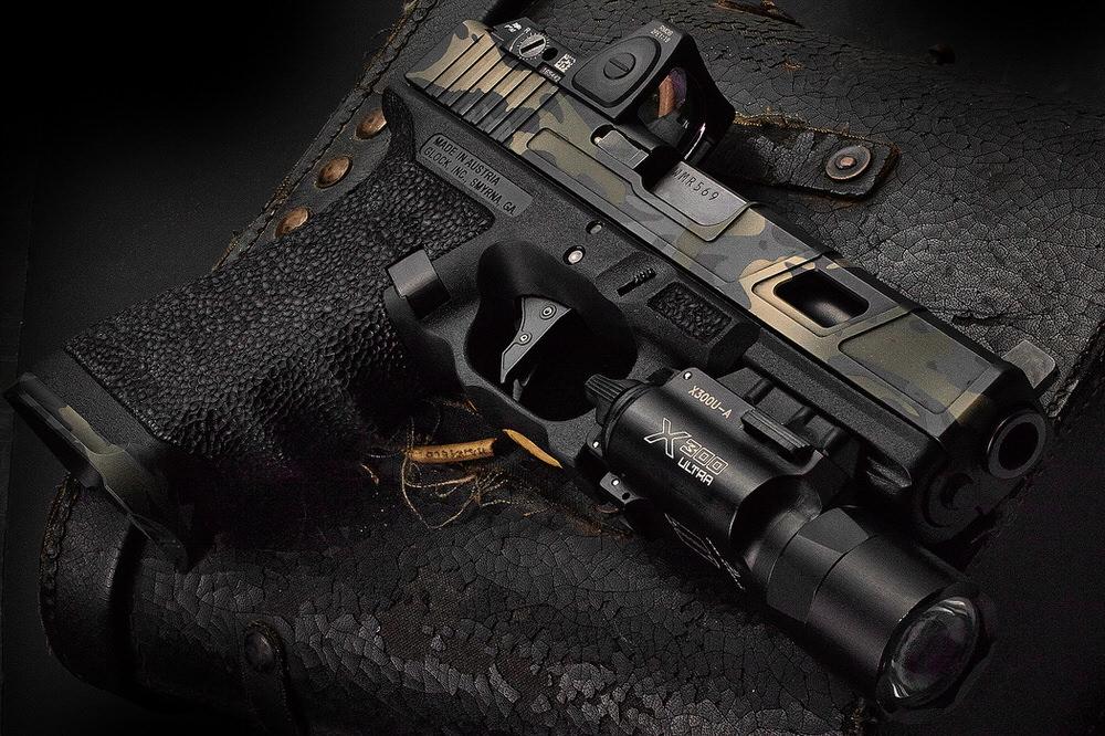 Hillbilly223 custom cerakote glock handgun