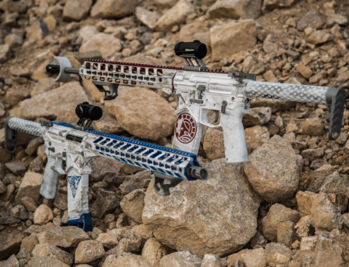 Star Wars Storm Trooper Themed Cerakoted Rifles