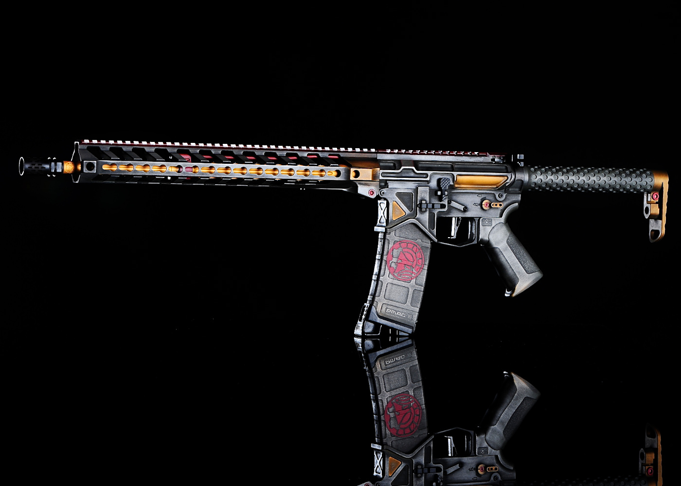 Boba Fett Themed AR15 Cerakote for Battle Arms Development