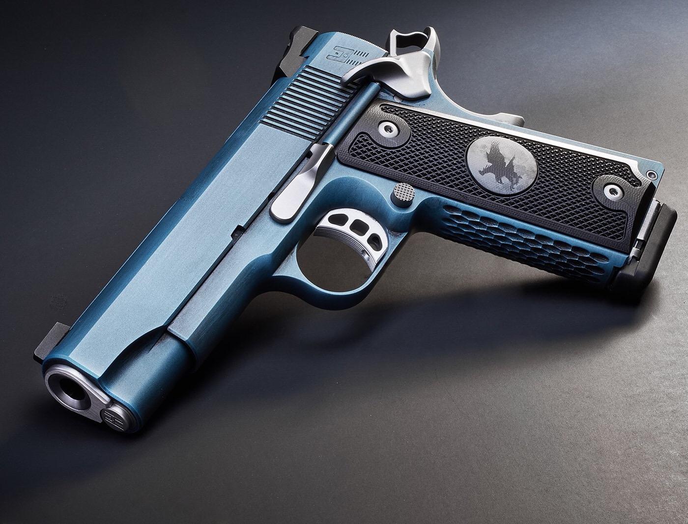 Caribbean blue custom cerakote 1911 nighthawk