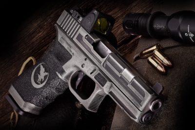 custom cerakote nighthawk glock silver